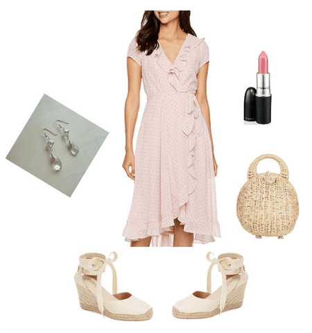 Spring style, how to wear a wrap dress, Summer dress