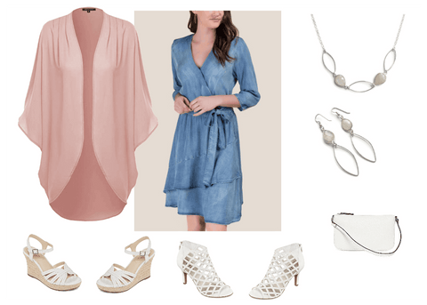 Summer style, Spring fashion ideas, how to style a wrap dress,
