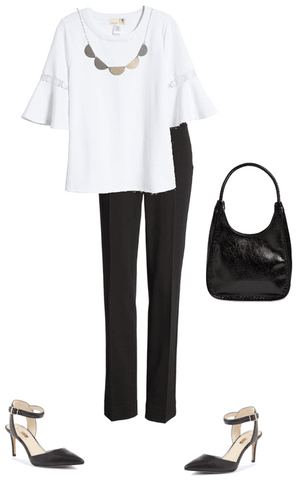 Black and white outfit for women, what to wear to work in the Summer