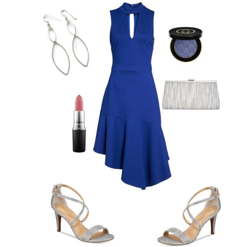 blue dress, Spring fashion, Spring party style, bridal shower outfit