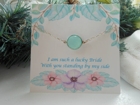 bridesmaid bracelet, aqua bracelet, Spring wedding, best gift for bridesmaid