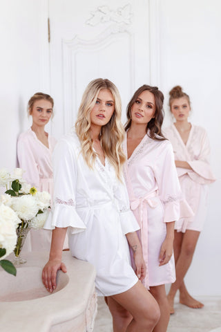 satin robe for bridesmaid, bridal party best gift ideas, wedding planning