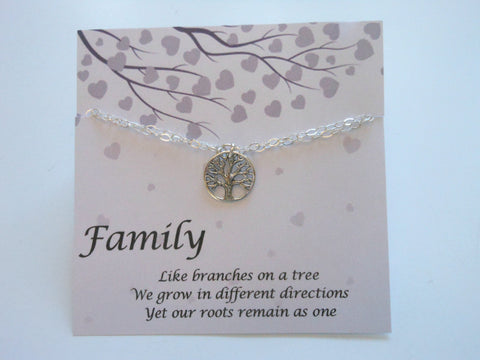 family tree bracelet, gift for mom, fabulous creations jewelry