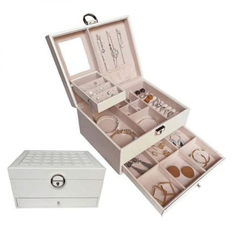 jewelry organizer, white jewelry box