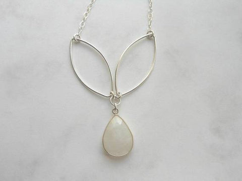 moonstone necklace, sterling silver handmade necklace, Fabulous Creations Jewelry