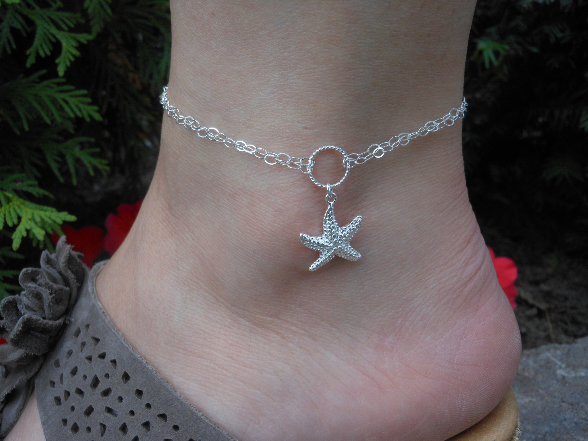 anklet custom silvertone bracelets trio jewelry favorites moonstone ankle pin with