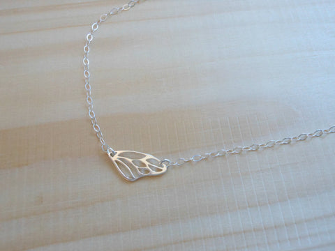 Butterfly Wing Necklace, Minimalist Necklace