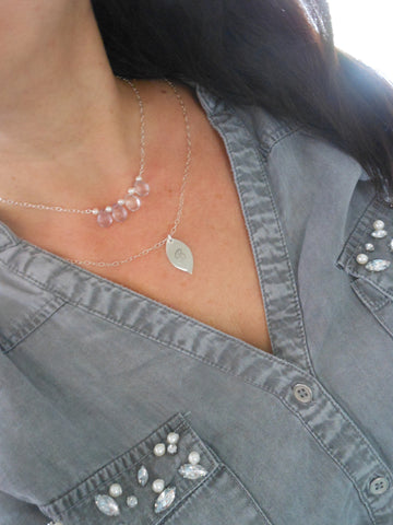 Gemstone Cascade Necklaces in Sterling Silver