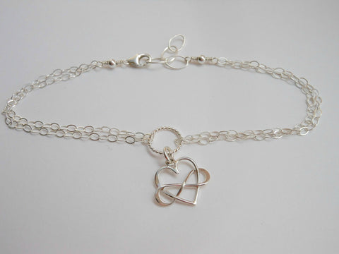 infinity heart anklet, beach, Summer jewelry, fabulous creations