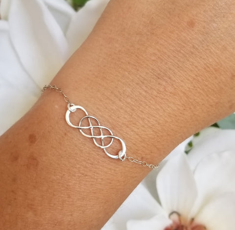 Dainty Sterling Silver Bracelet, Simple bracelet for everyday wear