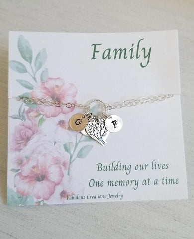 personalized bracelet, family tree bracelet