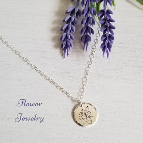 Flower Necklace for Mom, Jewelry Gift for Mom