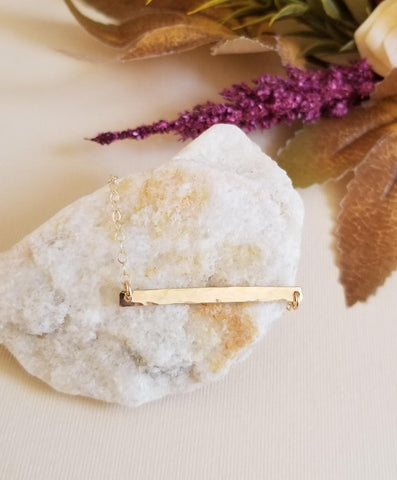 dainty gold bracelet, Bridesmaid gift, sterling silver skinny bar bracelet
