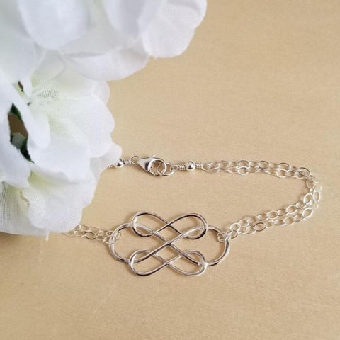 Mothers jewelry, mother in law gift, infinity bracelet