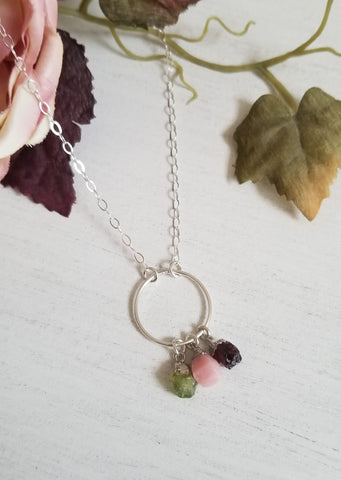 Mother of the Bride Gift, Custom Birthstone Necklace
