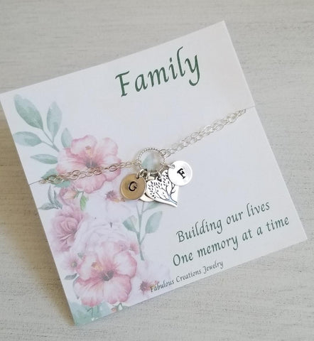 Mothers day gift, personalized Mothers bracelet