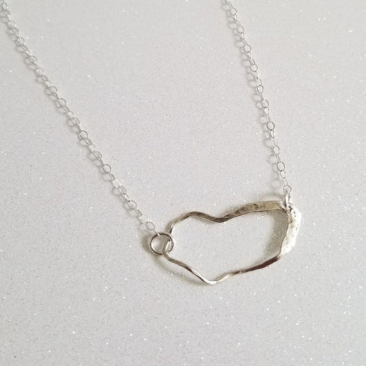 Sterling Silver Abstract Necklace, Modern Everyday Necklace