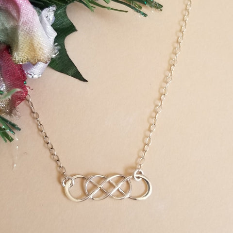 Dainty Silver Infinity Necklace, Gift for Best Friends, Bridesmaid Gift