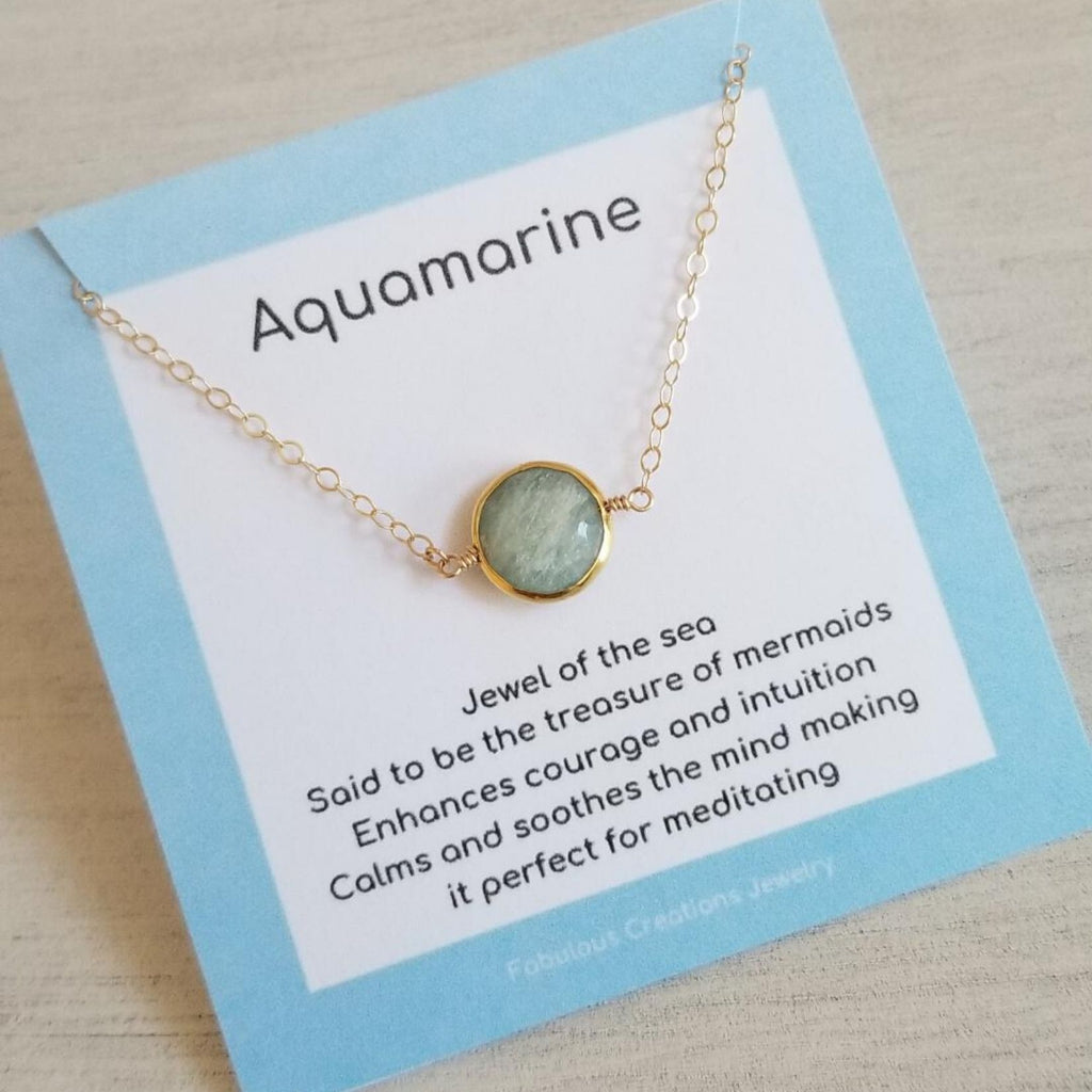 Aquamarine Necklace, Dainty Gold Choker, Boho style, gift for best friend