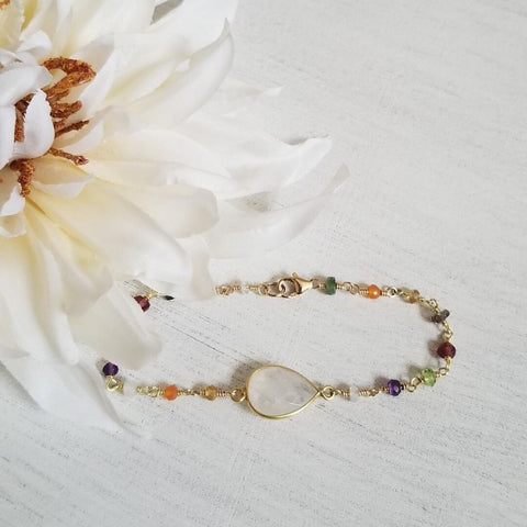 Bridesmaid bracelet, boho wedding, Spring wedding