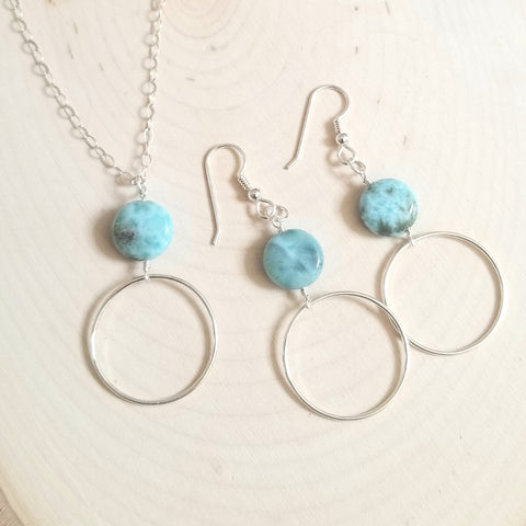 Larimar jewelry, handmade jewelry for women