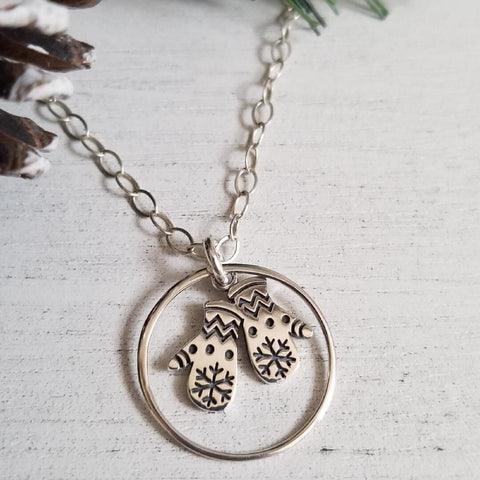 cute charm necklace for her, gift for sister, Winter style jewelry