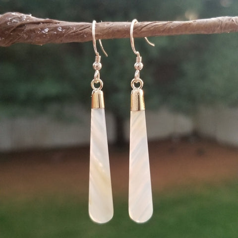 One of a Kind Lace Agate Earrings