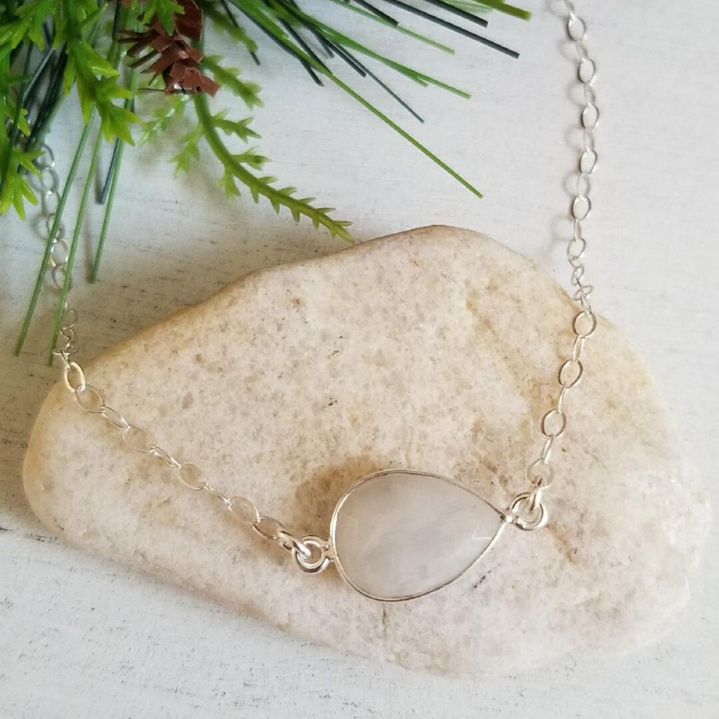 dainty choker, gift for best friend, Moonstone necklace, everyday necklace