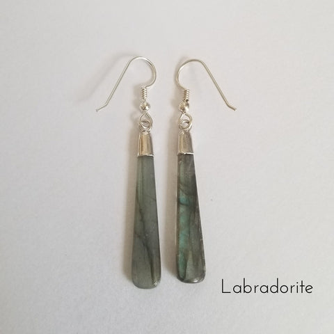 Labradorite Earrings, Gift for Her