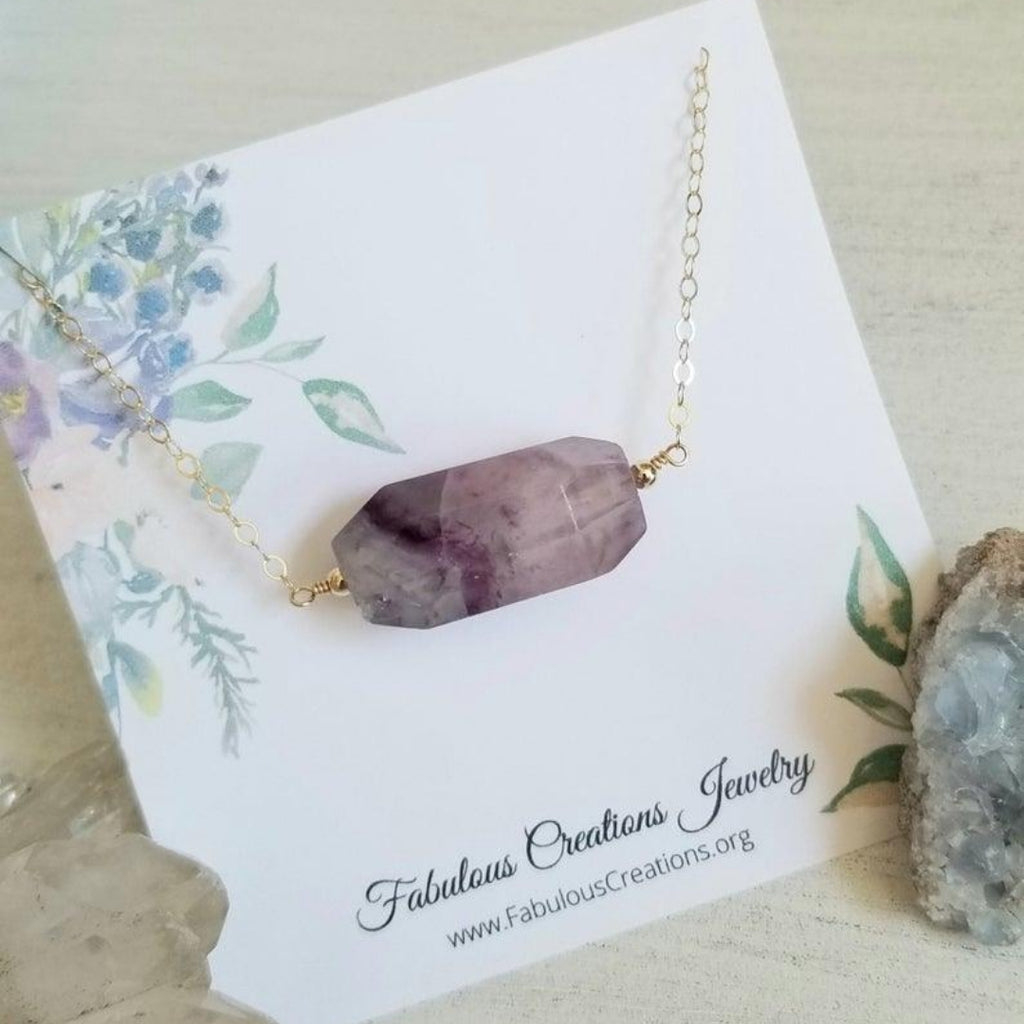 Natural Raw Fluorite Necklace