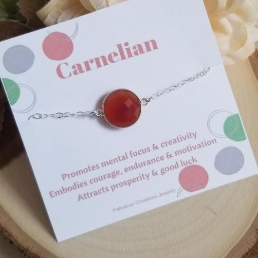Orange Carnelian Bracelet, Gold Filled or Sterling Silver