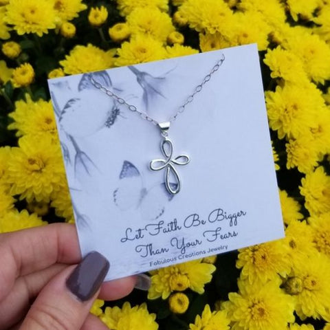 jewelry gifts for her, Infinity Cross necklace, gift for Mom, Christmas gift idea