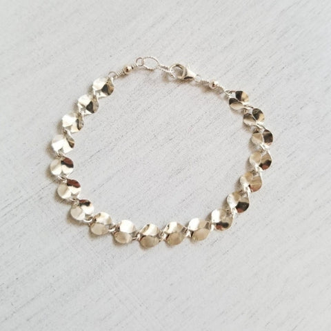 anniversary gift for wife, Mothers Day gift, Sterling Silver bracelet, gift for sister