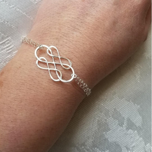 Friendship Bracelet, Sterling Silver Infinity Bracelet, Gift for Best Friend