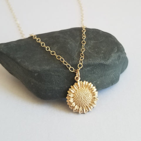 Sunflower Necklace, Gift for Best Friend, Summer Jewelry