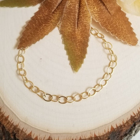 Modern Gold Filled Chain Bracelet