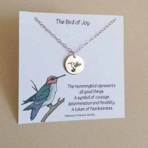 Hummingbird Charm Necklace, Everyday Necklace