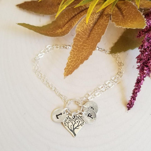Personalized Family Tree Charm Bracelet