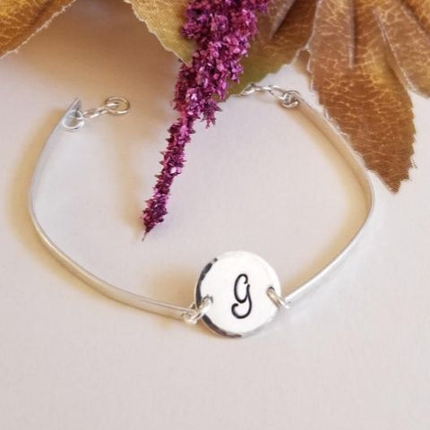 Personalized Sterling Silver Bangle Bracelet