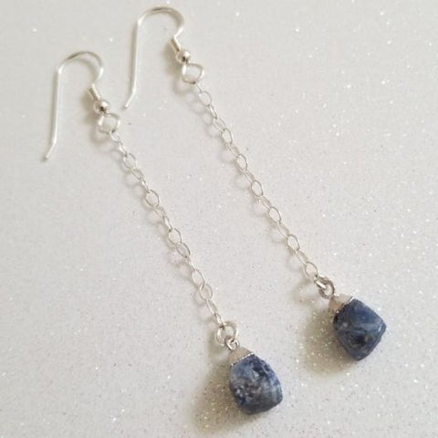 September birthstone, birthday gift for Virgo, Sapphire earrings