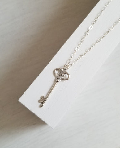 Sterling Silver Key necklace for women
