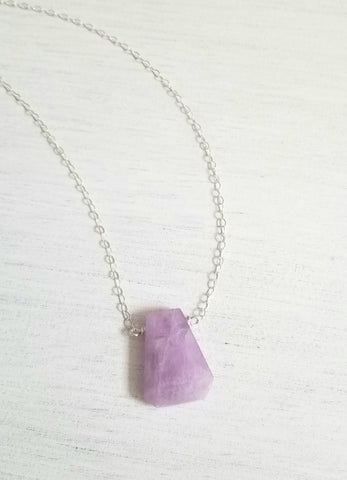 Natural Kunzite Gemstone Necklace
