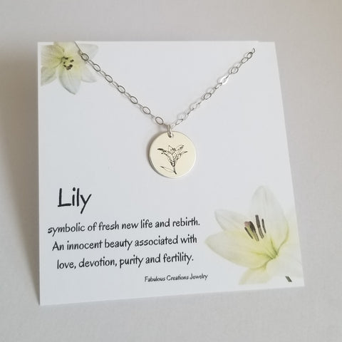 Flower necklace for Mom, Mother's Day Gift