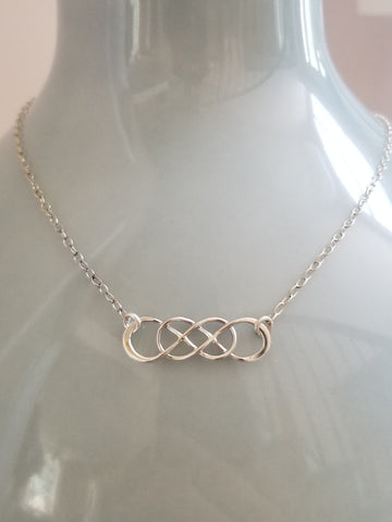 Linked Infinity Necklace, Gift for Her