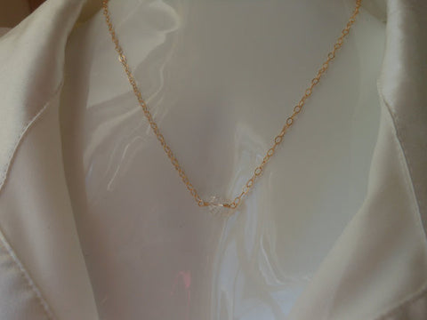 Swarovski Crystal Solitaire Gold Necklace