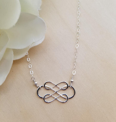 Sterling Silver Triple Infinity Necklace