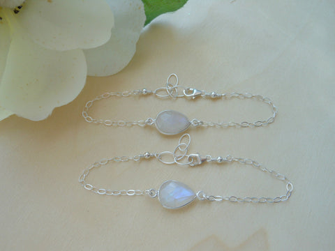 bridesmaid gift, fabulous creations jewelry, moonstone bracelet