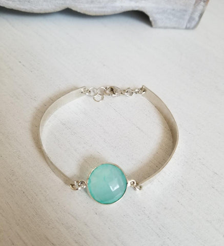 gemstone bangle bracelet, sterling silver bangle, gift for best friend, boho bracelet