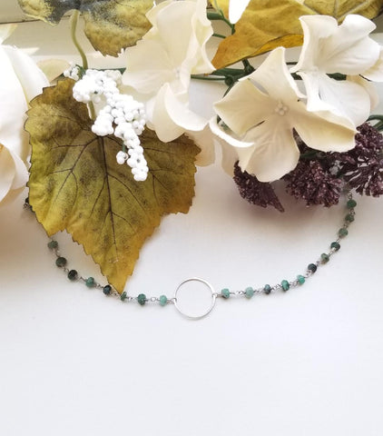 Raw Emerald Eternity Bracelet