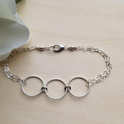 sterling silver eternity bracelet, gift for sister, Fabulous Creations Jewelry, gift for her